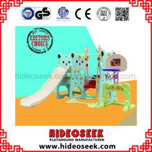 Niños Plastic Slide y Swing for Garden