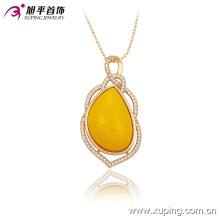 Moda de Luxo Mulheres de Ouro -Plate Pedra Jóias Pingente em Liga 32530