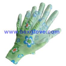 Garden Working Glove, safety Glove, Flower Printed Glove