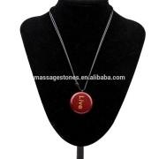 Personalize wishing words engraved chakra stone jewelry pendant