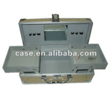 glänzende Aluminium Kosmetikbox
