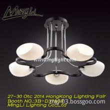 Chandelier ceiling lamps 5 lights E14 white glass pendant lamps
