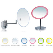 Espelho de maquilhagem triplo ampliado Bthroom com luz LED