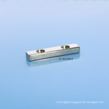 High Quality Block NdFeB Neodymium Magnet with Two Hole