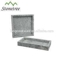 Venta caliente bandeja de servicio de mármol de alta calidad