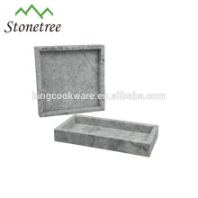 Venda quente de alta qualidade em mármore bandeja de servir