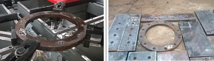 samples of flange steel