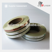 Gold color hot stamping holographic plastic strip for paper