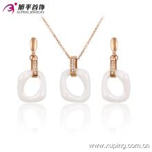 Xuping Fashion or-plaqué bijoux en alliage rond en céramique avec diamant 63750
