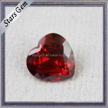 AA brillant en forme de coeur en zircon pierres précieuses