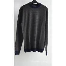 Круглый вырез с рисунком вязать свитер свитер для мужчин