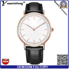Yxl-006 2016 Großhandelsgewohnheit westliche Art- und Weiseleder-Dw-Armbanduhren