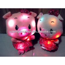China fábrica LED juguete de peluche juguetes de peluche relleno de luz LED de juguete
