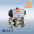 API6D flange connection gas ball valve 1.4408 flanged ball valve dn40 wcb