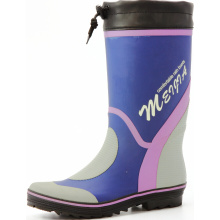 Colored Men's Sweat-absorbent Lining Rubber Boots With Drawstring