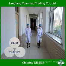 Tablette Dioxyde de chlore désinfectant à haute efficacité pour la stérilisation hospitalière