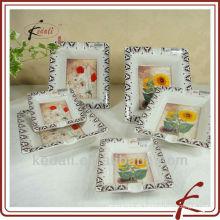 Keramik-Aschenbecher-Set mit Blumen-Design