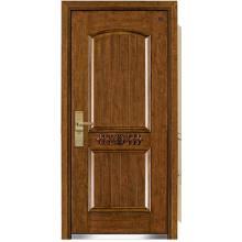 Puerta blindada de madera de acero de lujo