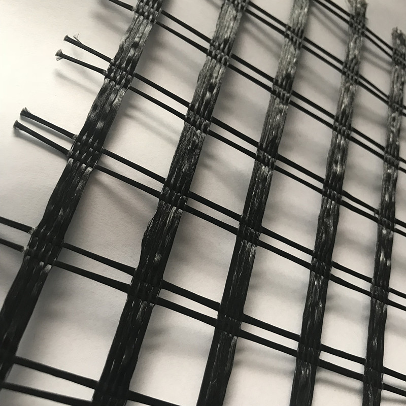 Polyester Warp Knitted Geogrid Uniaxial