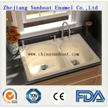 Enamel Carbon Steel Kitchen/Bathroom Sink