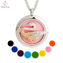 Aluminum Chain Metal Interchangeable Magnetic Pendant Necklace, Swan Elephant Dog Animal Aroma Perfume Pendant Necklace