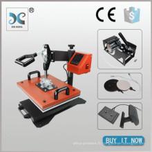 HP6IN1 Meilleur t-shirt machine à imprimer à transfert de chaleur, presse à chaleur combinée 6 en 1