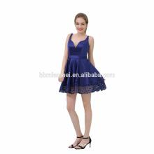2017 Mesdames gros bleu court sexy robe de soirée
