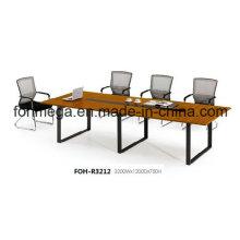 10 Personas Mesa de conferencia de melamina con pierna de metal (FOH-R3212)