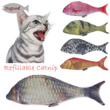 Refilling Catnip Toys Funny Plush Simulation Fish Shape Cat Toys