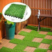 Durable Interlocking Artificial Grass Tile, Non-Deforming Artificial synthetic Turf Tiles