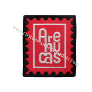 Red Customized Embroidery Patch, Embroider Patch For Garments, Shoes, Uniform