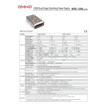 Omwo Wxe-120d-a Dual Output Switching Power Supply