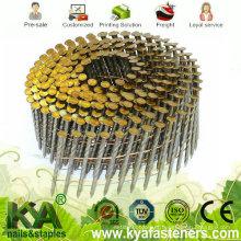 15 Deg arame aglomerado pregos para a construção, decoração, embalagem