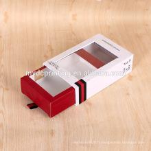 Boîte-cadeau faite sur commande de parfum de carton de style de tiroir avec la fenêtre de PVC