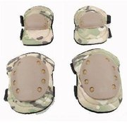 Cp Adjustable Airsoft Tactical Safety Protective Knee + Elbow Pad Skate Knee Pads