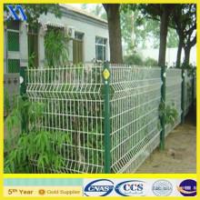 Clôture de fer ondulé enduit de PVC