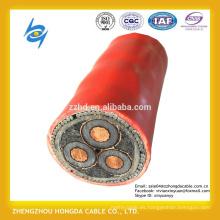 Cable de transmisión de aluminio de la base del conductor 3 de cobre de alto voltaje con el blindado