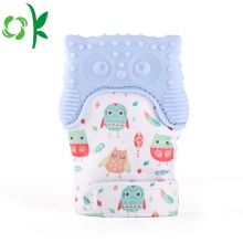 BPA 무료 아기 올빼미 Mitten Silether Teether Gloves
