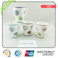 Taza de café de cerámica ecológica de la forma de V para el regalo promocional