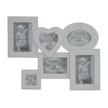 White Collage Wooden Photo Frame for Home Deco