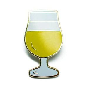Craft Beer Tulip Glass Hard Enamel Lapel Pin