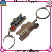 Anneau porte-clés en métal sur mesure pour cadeau promotionnel