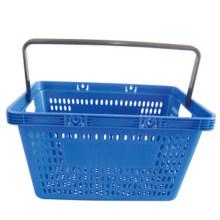 Cesta plástica de una sola mano de supermercado