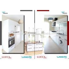 Heißer Verkauf 2017 Desing weißer Hochglanz-Küche-Schrank mit hohem Pantry-Schrank