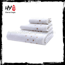High quality decorative cotton bath towels set with high quality