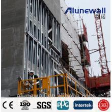 Painel composto de alumínio de aço inoxidável da espessura super de 8mm para materiais de construção do revestimento da parede exterior