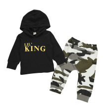 Children′s Autumn Suit New Boys′ Hooded Hoodie Long Sleeve Trouser Suit