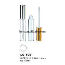 8ml round shape clear lip gloss tube