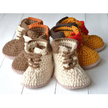 Berwarna-warni Crochet Handmade Baby Enfant Doll Booties / Kasut
