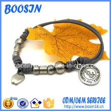 Handmade китайский браслет узла с изготовленным на заказ шармом логоса для оптовой продажи
